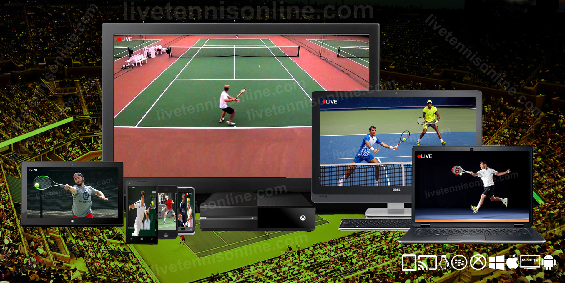 Watch Tennis Live Stream Online 2020 | ATP, WTA, Grand Slam  slider